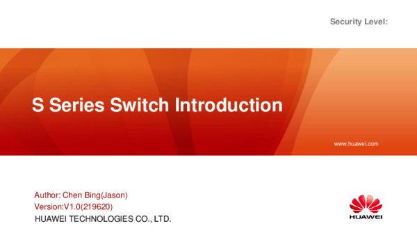 PPT) Training 003_02S_Series_Switch_Introduction
