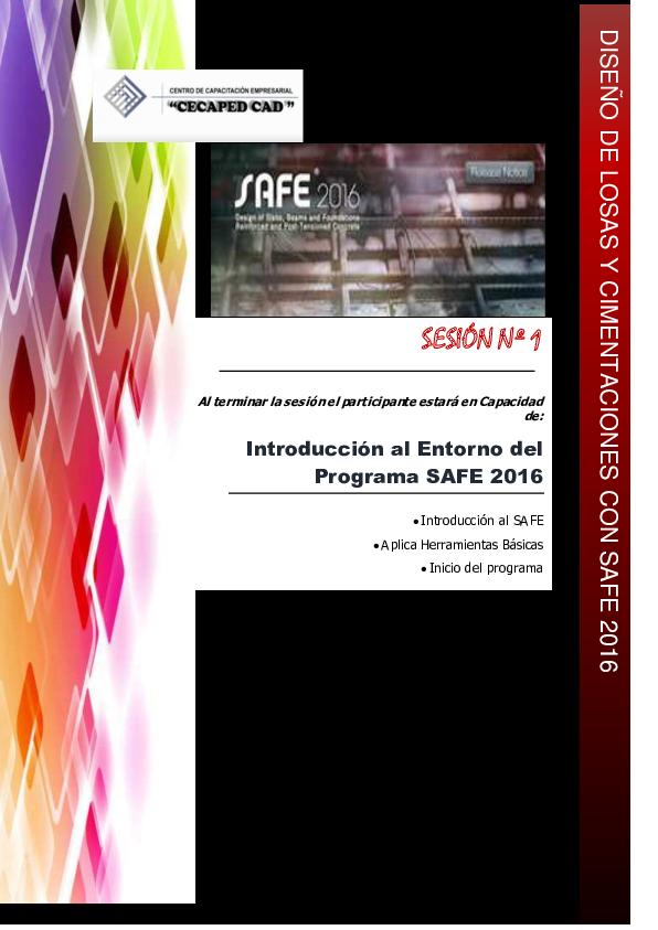 Pdf Sesión Nº 1 Introducción Al Entorno Del Programa Safe