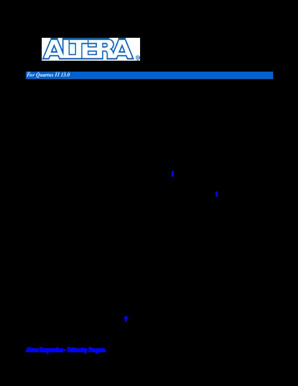 PDF) Basic Computer System for the Altera DE2-70 Board