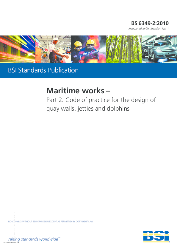 PDF) Maritime works – Part 2: Code of practice for the