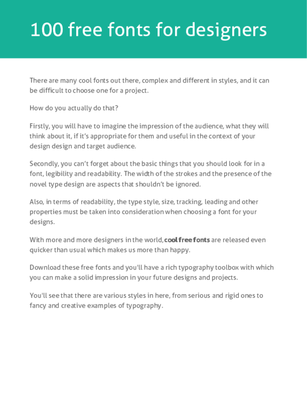 PDF) Free fonts | Rangga Pratama - Academia edu