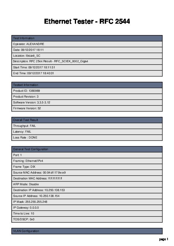 PDF) Ethernet Tester -RFC 2544   Stalkler Engenharia