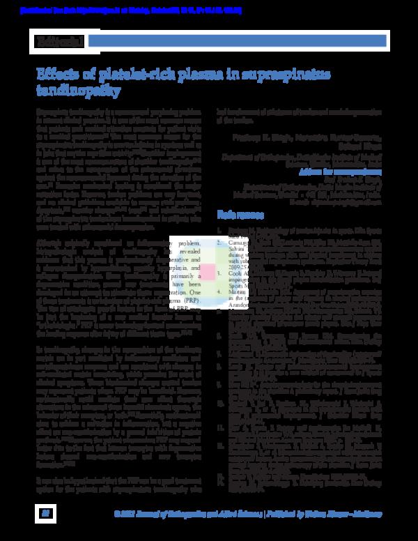 Supraspinatus Tendinitis Pdf