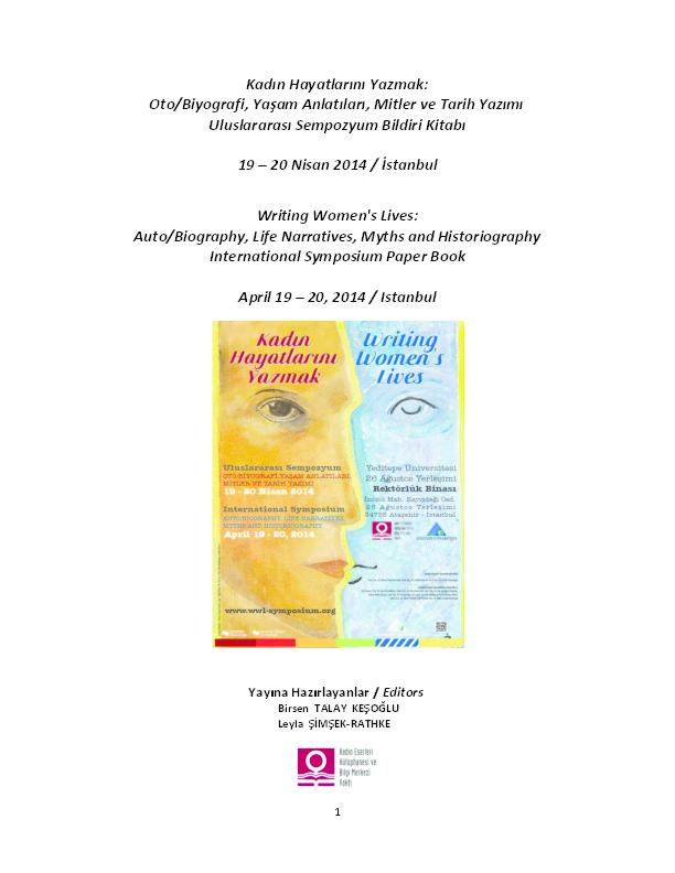 PDF) Writing Women's Lives -Symposium- Book /Kadın Hayatlarını