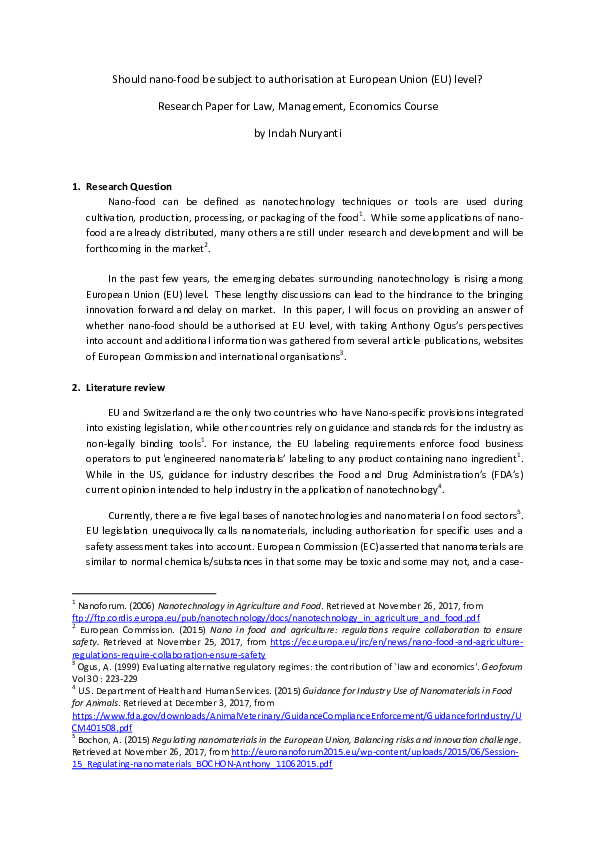 PDF) Nano-food authorisation pdf | Indah Nuryanti - Academia edu