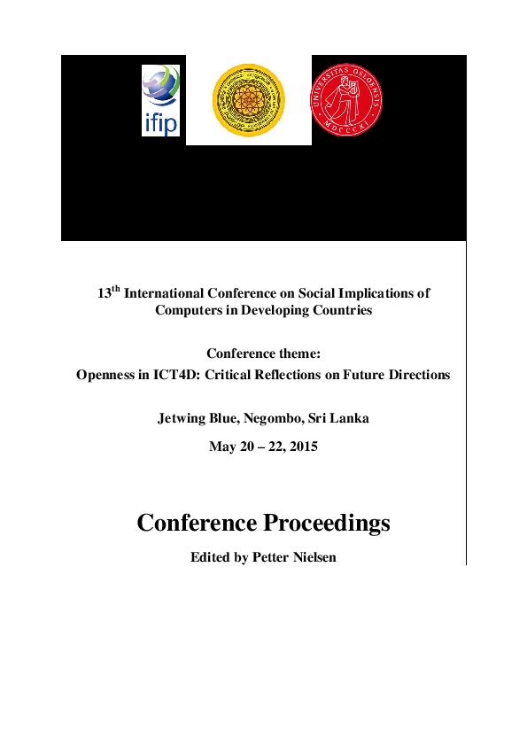 PDF) IFIPWG94_2015_PROCEEDINGS.pdf   Petter Nielsen and Julian ...