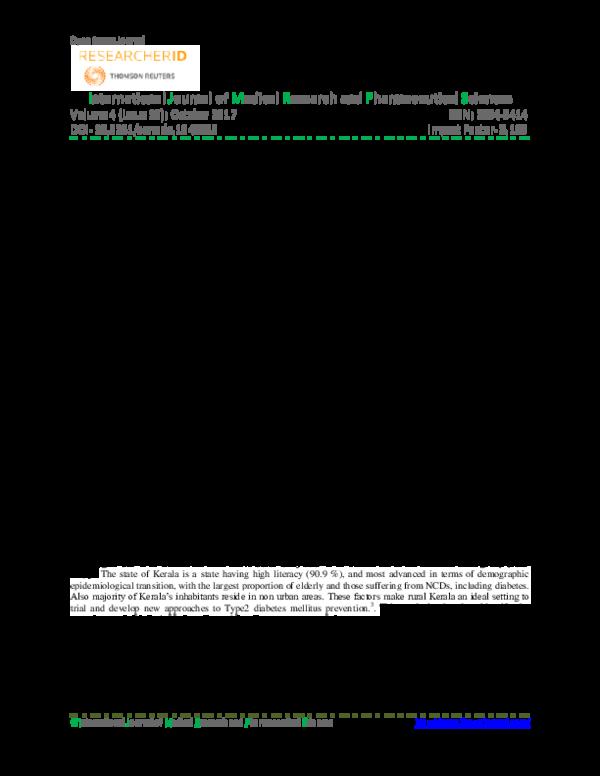 PDF) PREVALENCE OF CARDIOVASCULAR RISK