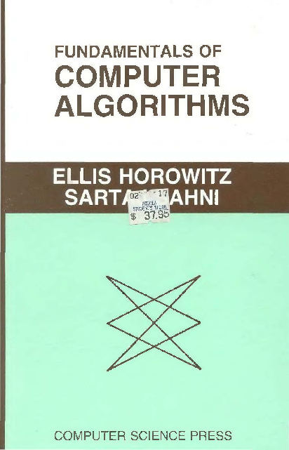Fundamentals Of Computer Algorithms By Sahni Pdf