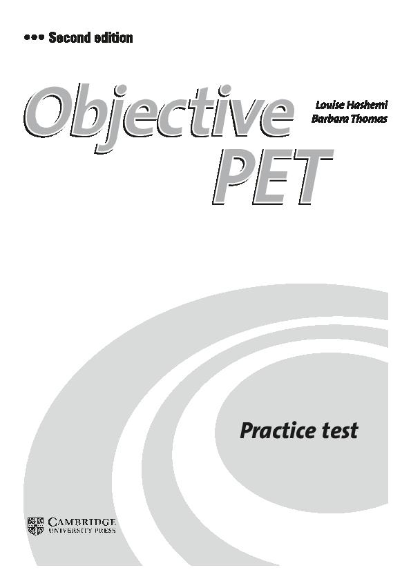 PDF) Obj PET TEST Full Test   Clash English - Academia edu