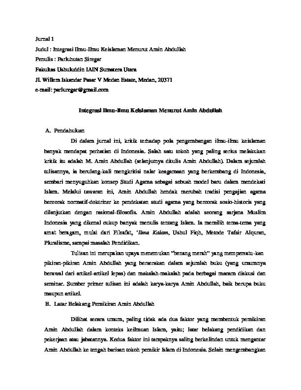 Doc Review Jurnal Filsafat Pendidikan Islam Zulfikar Al Zayyid Academia Edu