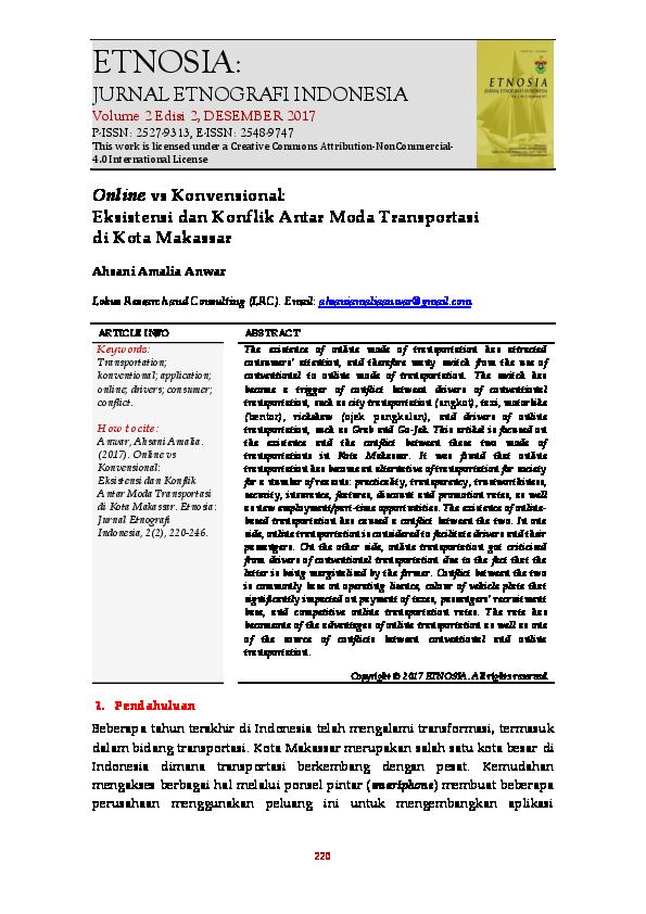 PDF) Online vs Konvensional: Eksistensi dan Konflik Antar