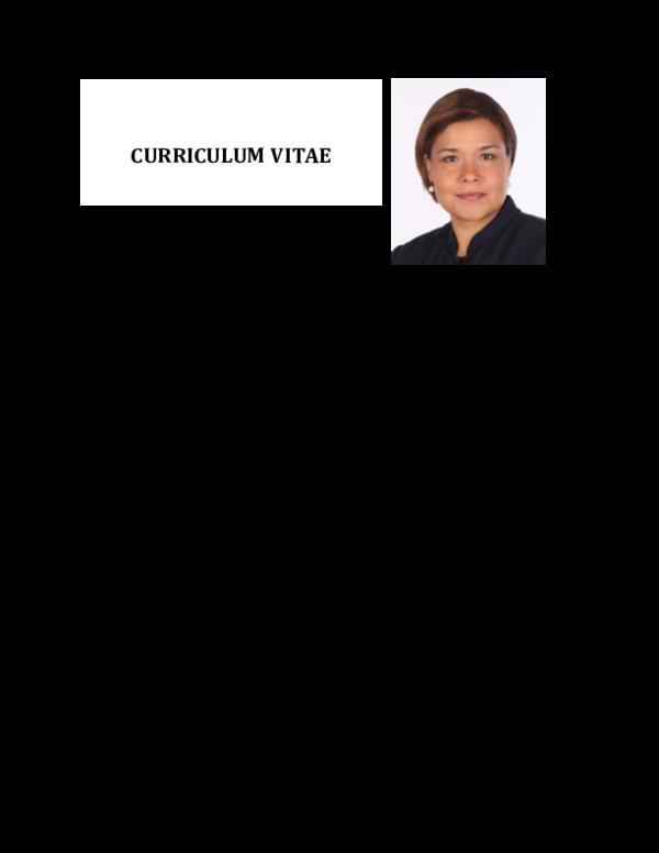 Curriculum Vitae Angeles Balandrano Academiaedu