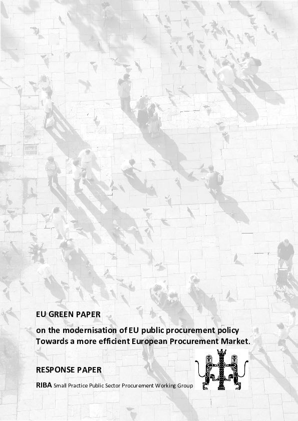 Eu Green Paper On The Modernisation Of Eu Public Procurement Policy