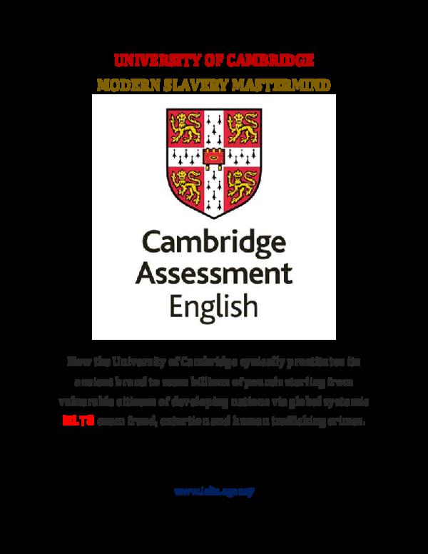 PDF) UNIVERSITY OF CAMBRIDGE MODERN DAY SLAVERY MASTERMIND   The