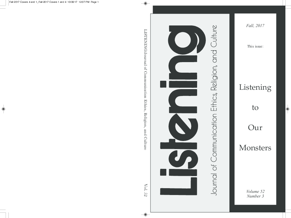 PDF) LISTENING vol  52 no  3 (Fall 2017) - Listening to Our