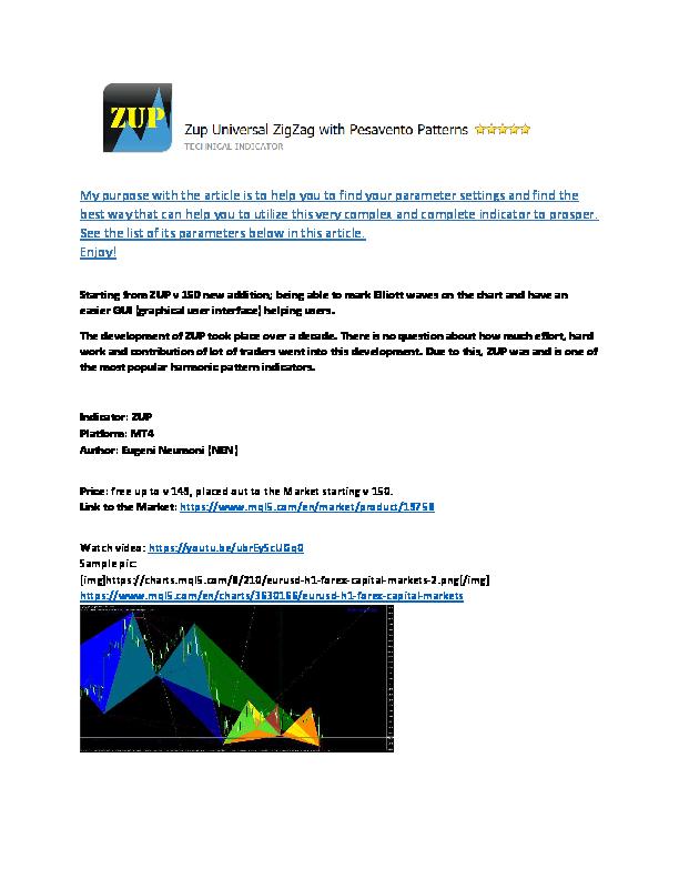 PDF) MT4 ZUP Universal Harmonic Pattern Indicator and its