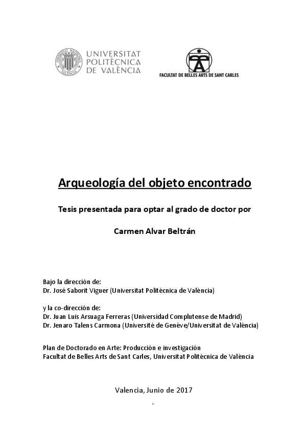 2288468387a PDF) Arqueología del objeto encontrado