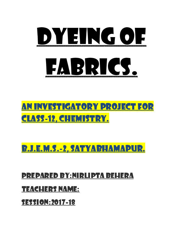 Chemistry Project For Class 12 .pdf