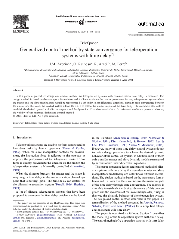 master thesis automatic control