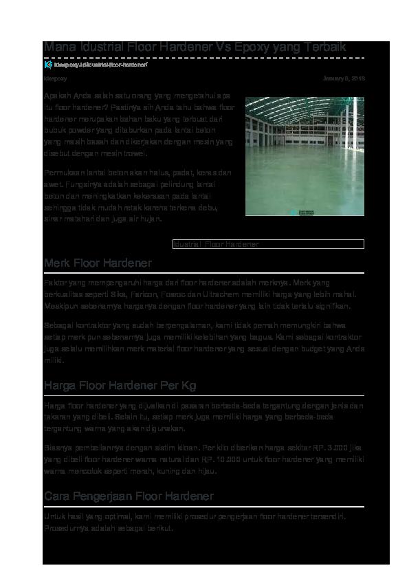 Pdf Idustrial Floor Hardener Erwin Nuryana Academia Edu
