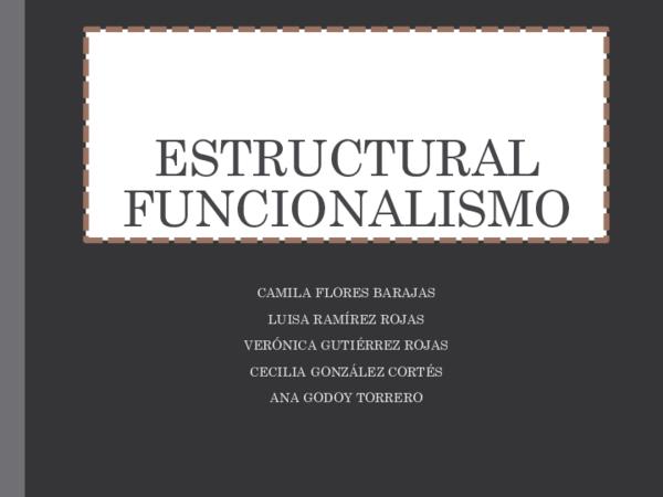 Ppt Estructural Funcionalismo Luisa Ramírez Academia Edu