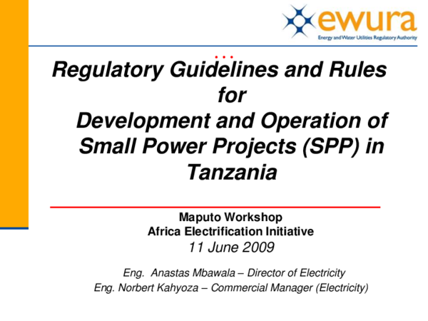 PDF) Regulatory Guidelines and Rules for Development and Operation