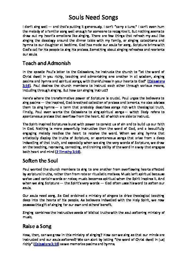 DOC) Souls Need Songs | latan sub - Academia edu