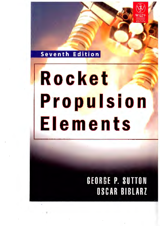 Pdf Rocket Propulsion Elements By George P Sutton Saurabh Singh Academia Edu