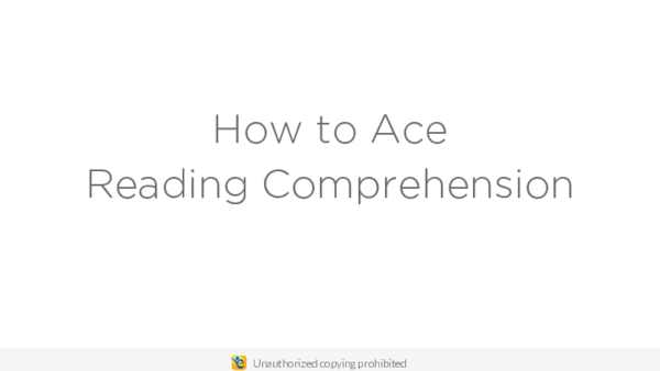 PDF) How to Ace Reading Comprehension | Tiago Martins da