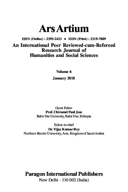 PDF) Vol  6, January 2018 Guest Editor: Prof  Chiramel Paul