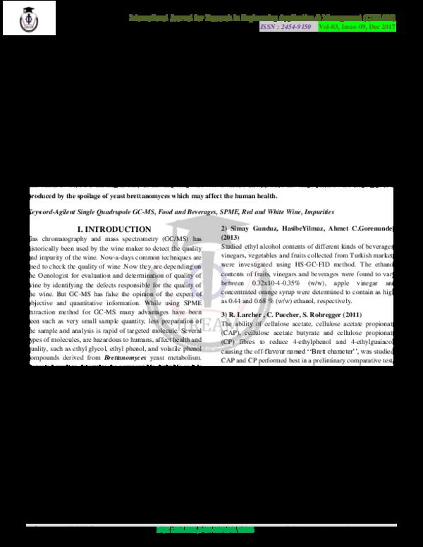 PDF) Identification & Quantification of Impurities in Red