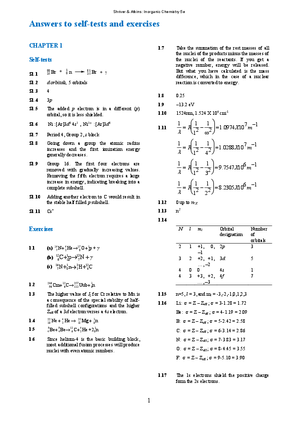 PDF) Answers to self-tests and exercises | 동현 김