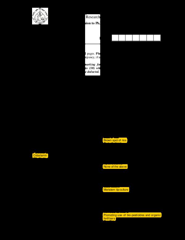 PDF) PART – I (General Agriculture | Agricultural tutorials