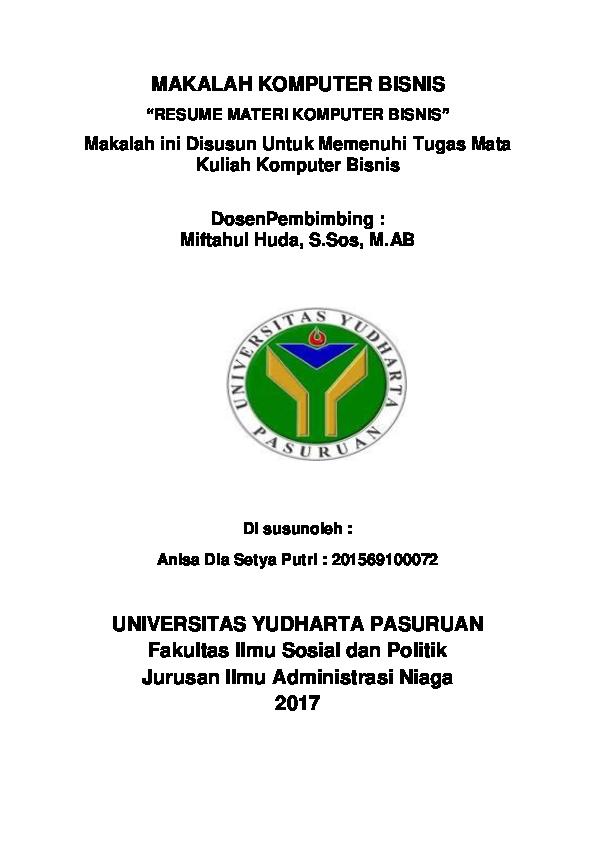 Doc Makalah Komputer Bisnis Bright Sidoarjomalang Academia Edu