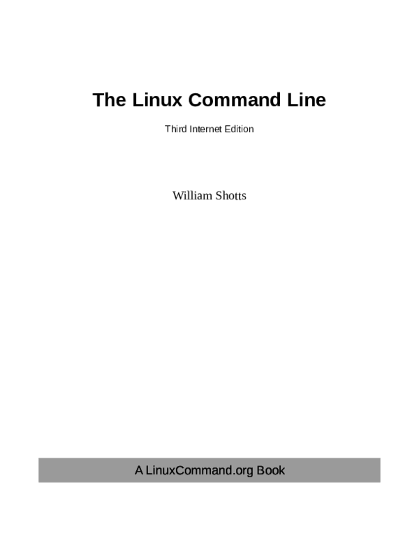 PDF) The Linux Command Line | Shawn Chen - Academia edu