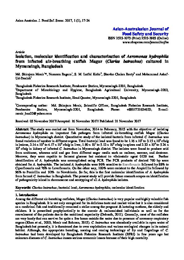 PDF) Isolation, molecular identification and