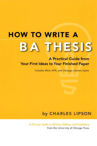 PDF) How to write a BA thesis.pdf | Hajar Boukhriss - Academia.edu