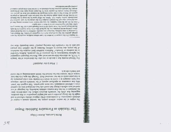 PDF) The Amidah as Formative Rabbinic Prayer | Ruth Langer