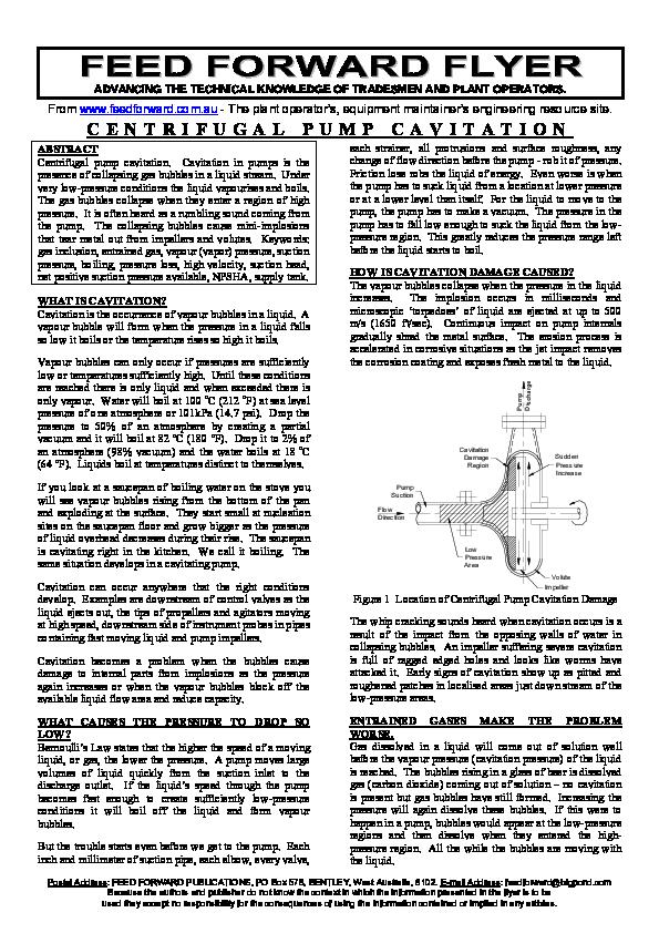 Pump Cavitation Sound