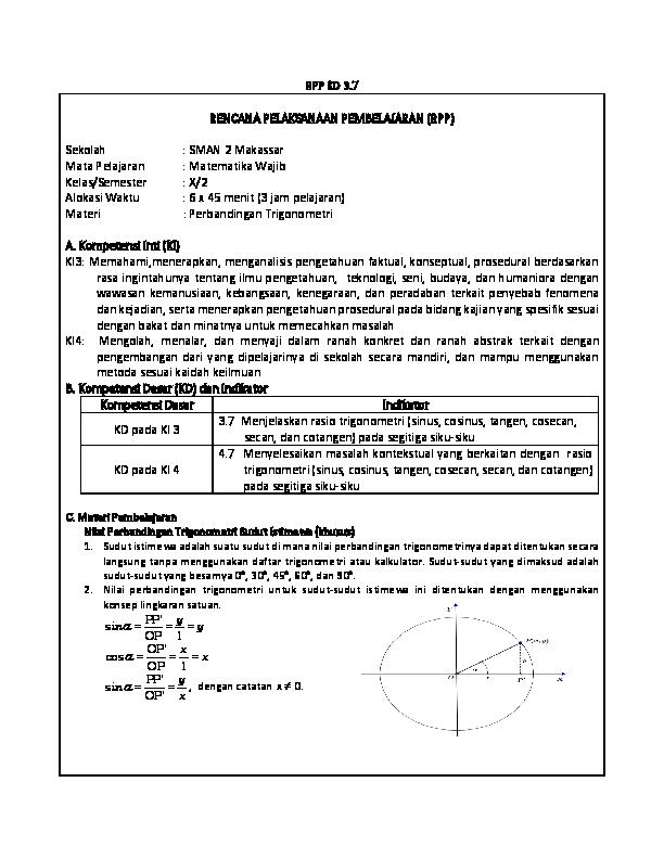 Contoh Soal Perbandingan Trigonometri Pada Segitiga Siku Siku Beserta Jawabannya