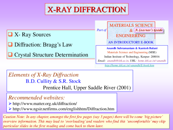 PPT) Chapter 3c X Ray Diffraction   prit patel - Academia edu