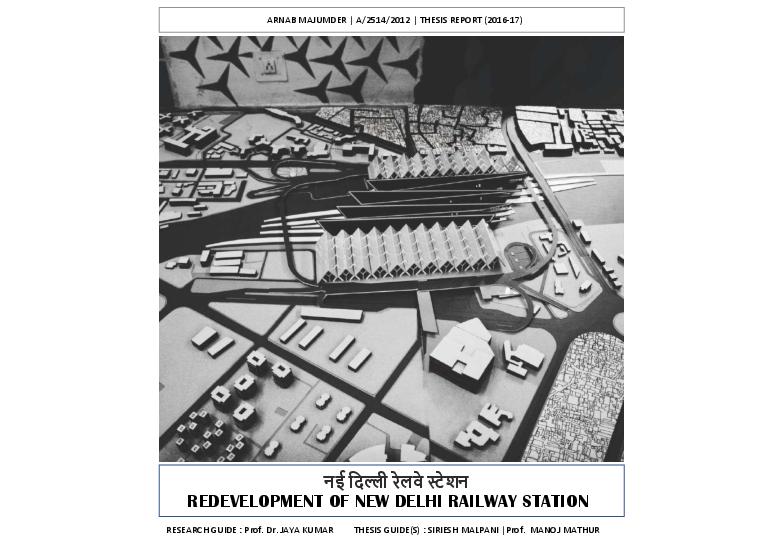 PDF) REDEVELOPMENT OF NEW DELHI RAILWAY STATION नई दिल्ली