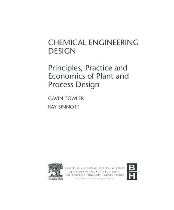 Pdf Chemical Engineering Design Gavin Towler Ray Sinnott Pdf Nitin Prajapat Academia Edu