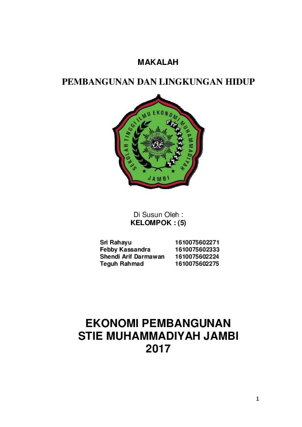 Doc Makalah Pembangunan Dan Lingkungan Hidup Ikhsan 24 Academia Edu