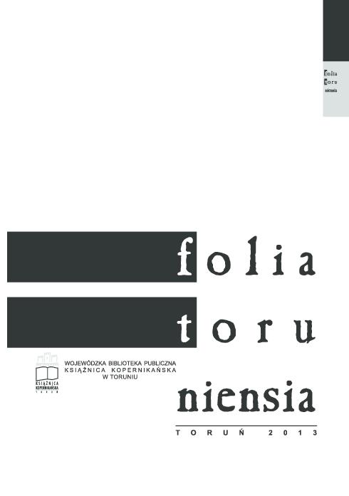 Pdf Folia Toruneinsia Vol 13 2013 Folia Toruniensia