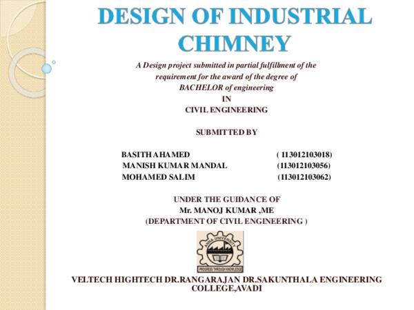 PPT) DESIGN OF INDUSTRIAL CHIMNEY | Manish Mandal - Academia edu