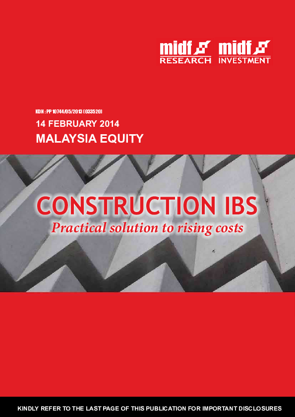 PDF) MALAYSIA EQUITY RESEARCH MALAYSIA EQUITY CONSTRUCTION IBS