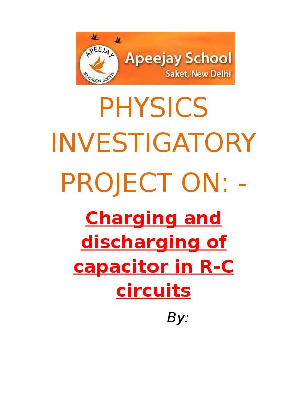 Class 12 Physics Project Pdf