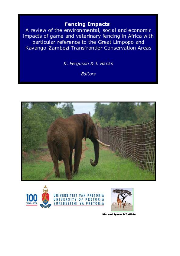 Pdf The Use Of Electrified Fences To Mitigate Human Elephant Conflict Experiences From The Laikipia Plateau In Northern Kenya Tobias Nyumba Academia Edu