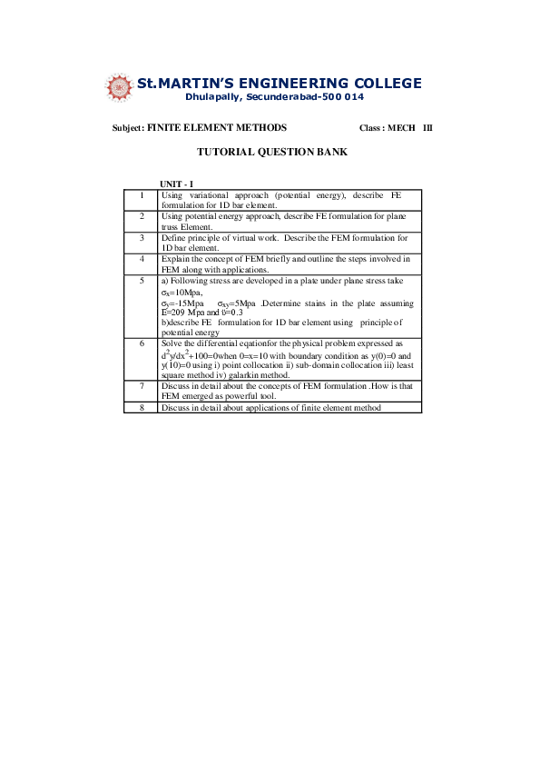 PDF) FINITE ELEMENT METHODS | Tesfaye Sama - Academia edu
